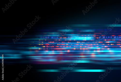 Cadres-photo bureau Fractal waves Big data futuristic visualization abstract illustration