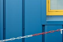 Closeup Shot Of A Blue Wall An...
