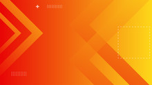 Dynamic Orange Background With Abstract Square Shape