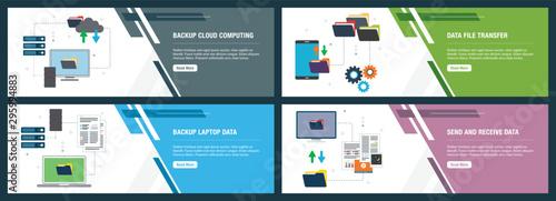 Fotografía  Backup data cloud computing