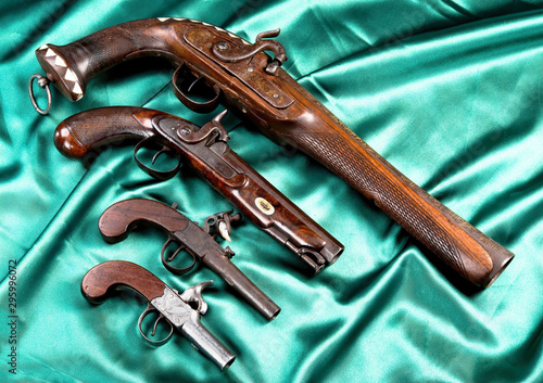 Real Antique Pistols made from 1820-1850 Canvas Print