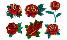 Beautiful Red Roses In Tattoo ...