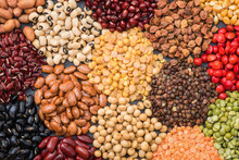 Multicolor Dried Legumes For B...