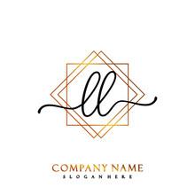 LL Initial Handwriting Logo Te...
