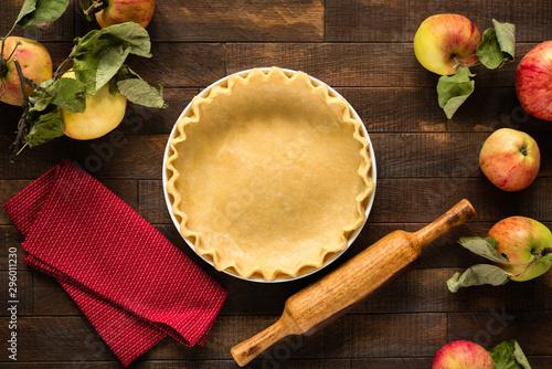 Apple pie cooking process Canvas Print