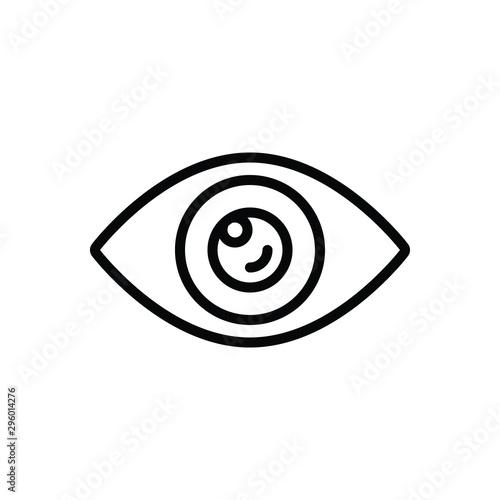 Fotografía Black line icon for visible
