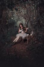 Beautiful Girl In A Fairy Tale Alice In Wonderland