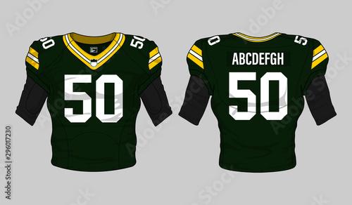 football jersey uniform template set kit Tableau sur Toile