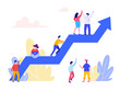 Career Development Concept. Flat vector illustration on White Background. Template for landing page, ui, web, homepage, banner, infographics, hero images