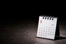 2020 September Calendar On Black Background