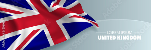 United Kingdom of Great Britain national day vector banner, greeting card Wallpaper Mural