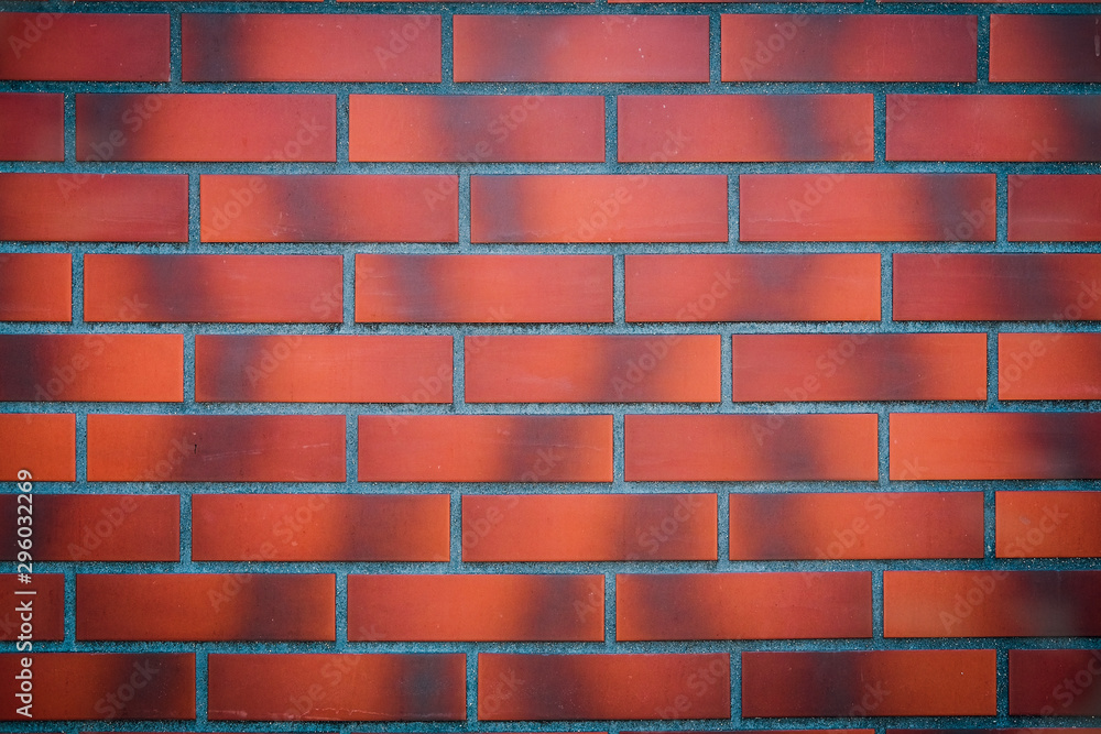 Red brick wall on the street.