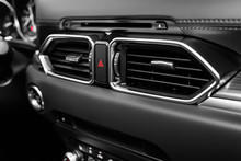 Close Up Car Ventilation System And Air Conditioning - Details And Controls Of Modern Car..
