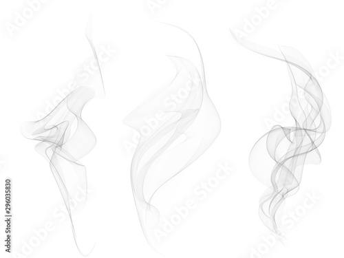Photo Vector Collection or Set of Realistic Cigarette Smoke or Fog or Haze with Transp