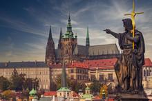 Prague Castle At Sunset - Czec...