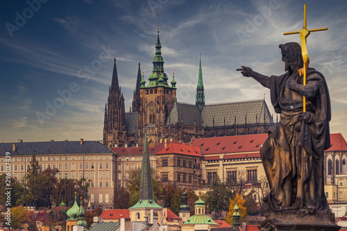 Prague Castle at sunset - Czech republic Canvas Print