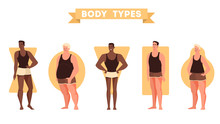 Male Body Shapes Set. Triangle...