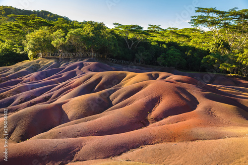 Seven Coloured Earth in Chamarel, Mauritius