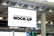 Mock Up Large Billboard On The...