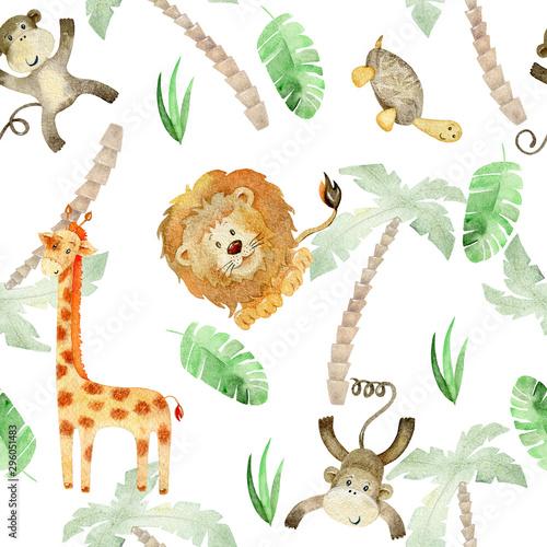 akwarela-safari-zwierzat