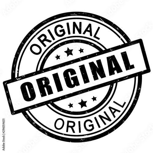Obraz Original stamp. Black original stamp sign icon. - fototapety do salonu