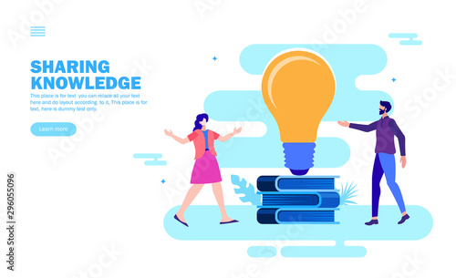 Fotografía sharing knowledge and ideas