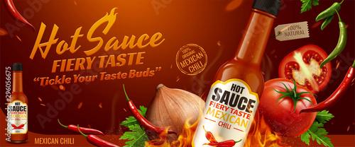 Hot sauce banner ads Wallpaper Mural