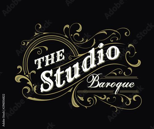 Antique label typography vintage badge design vector illustration