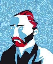 Vincent Van Gogh Vector Illustration