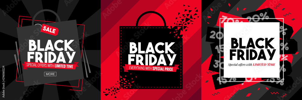 Fototapeta black friday vector graphic design