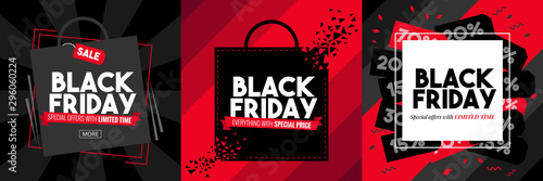 black friday vector graphic design - 296060224