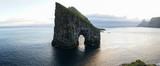 Drangarnir Sea Stack Rock in the Atlantic ocean on Vágar Island, Faroe Islands.