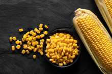 Canned Sweet Corn In A Black C...