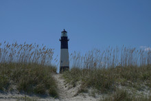 Tybee Island Lighthouse On The Georgia Coast