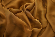 Background From Silk Fabric. G...