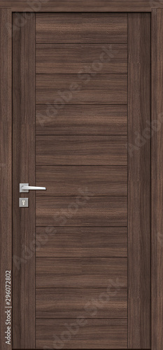 Naklejki na drzwi   brazowe-drzwi