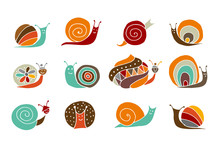 Funny Snail Logo For Your Design