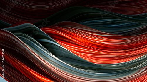 Eleganckie kolorowe tło z liniami. 3d ilustracja, 3d rendering.