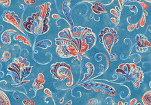 Paisley Watercolor Floral Patt...