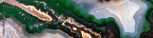 black and green agate texture strip Canvas Print