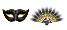 Black Carnival Venetian Mask, ...
