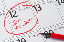 Save The Date Written On A Calendar - November 12