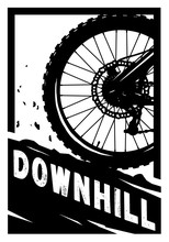 Downhill, Mountain Bike Banner...