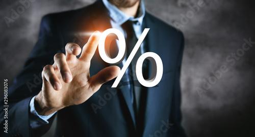 Stampa su Tela percent sign percentage icon interest rate