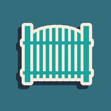 Green Garden Fence Wooden Icon...