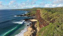 Aerial View Of Kepuhi Beach, West Molokai, Hawaii