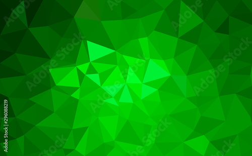 Modern green abstract polygonal background. Geometric texture background in origami style.