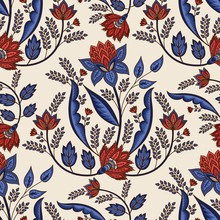 Indian Floral Paisley Pattern ...