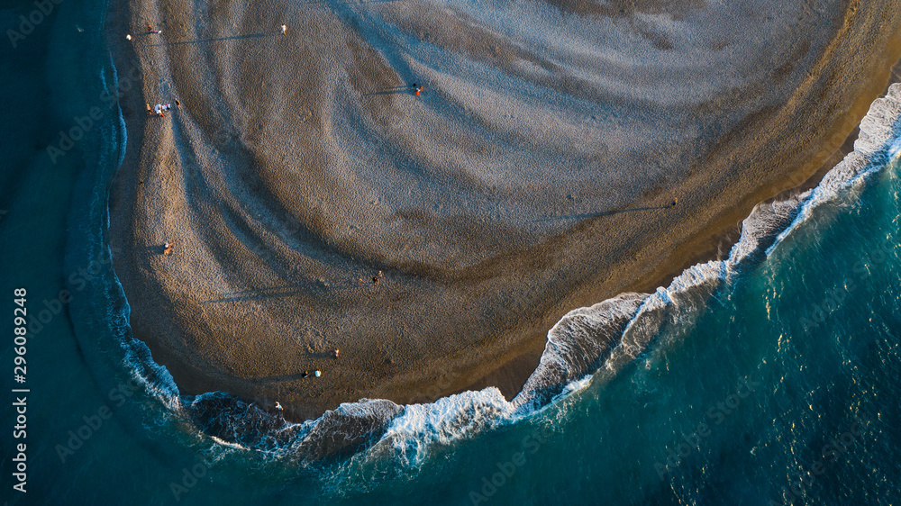 Fototapety, obrazy: drone view of beach