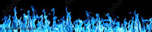 Fotografiet long stripe of blue sparks on black